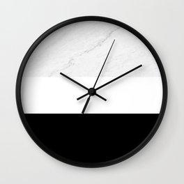 Marble Black White Wall Clock