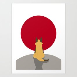 The Sun Fox Art Print