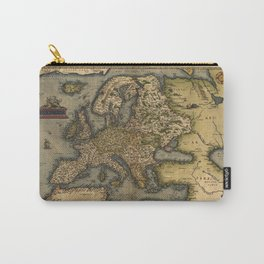 Antique Map of Britain, by Abraham Ortelius, circa 1570 Carry-All Pouch