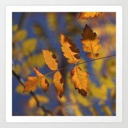 """""""Golden leaves"""" Art Print"""
