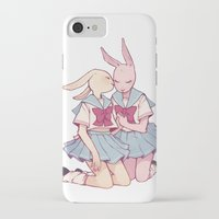 bunnies iPhone & iPod Cases featuring Bunnies by Sophie L