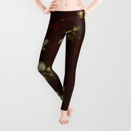 Victorian styled floral pattern Leggings