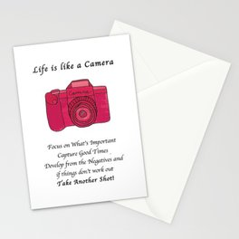 Life is like a Camera Stationery Cards