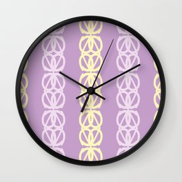 Linked Rings Pattern Wall Clock