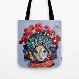 peking opera cat Tote Bag
