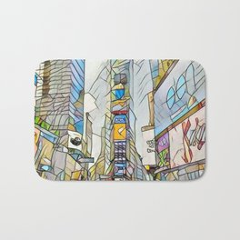 NYC Life in Times Square Bath Mat