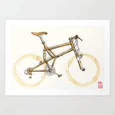 Coffee Wheels #16 Art Print