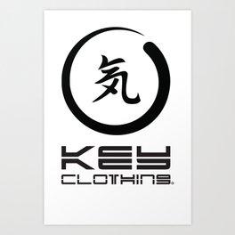 Key Clothing Canada Kanji Brushstroke Black Logo Art Print