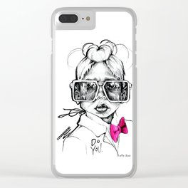 #STUKGIRL Penny Clear iPhone Case