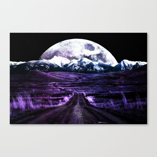 Highway to Eternity (moon mountain) violet Canvas Print