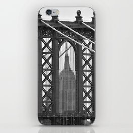 Empire State Building Photography Black & White Empire State Building Contest finalist iPhone Skin