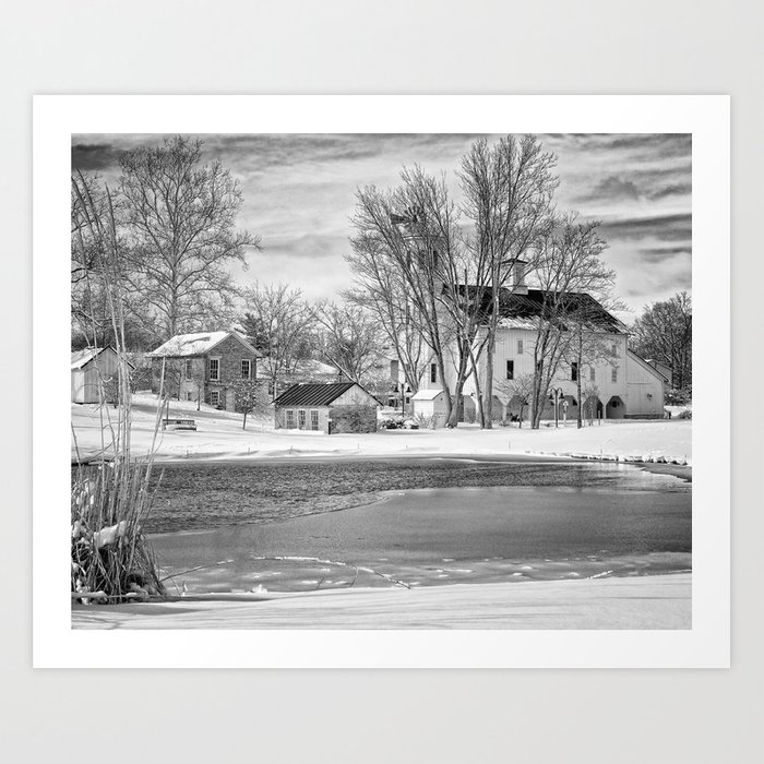 Westerville Oh in the winter Art Print