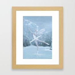 Snow Dancer Framed Art Print