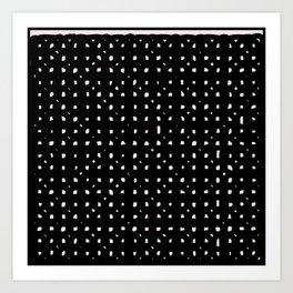 Black minimalist design print Art Print