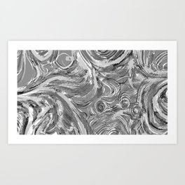 Grey in Currents  Art Print