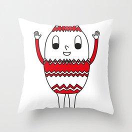 Easter-Egg Serrated Egg Throw Pillow