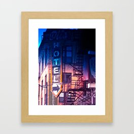 ...sold my coat when i hit spokane.... Framed Art Print