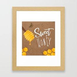 Sweet honey craft Framed Art Print