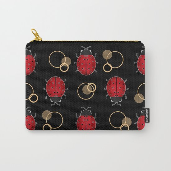 Cheerful ladybugs . Carry-All Pouch