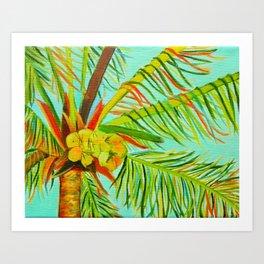 A Bunch of Coconuts Art Print