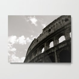 The Curve Of The Colloseum Metal Print