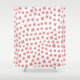 Crazy Hahaha Blood Shower Curtain