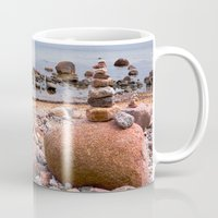 geology Mugs featuring At the beach by UtArt