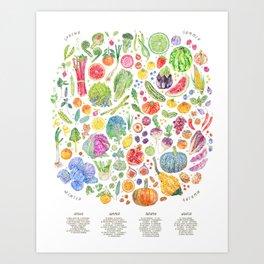 Seasonal Harvests Art Print