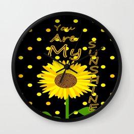 Sunshine Inspirational Quote Wall Clock