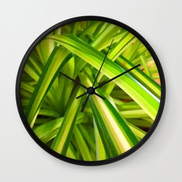 Spider Plant Leaves Wall Clock