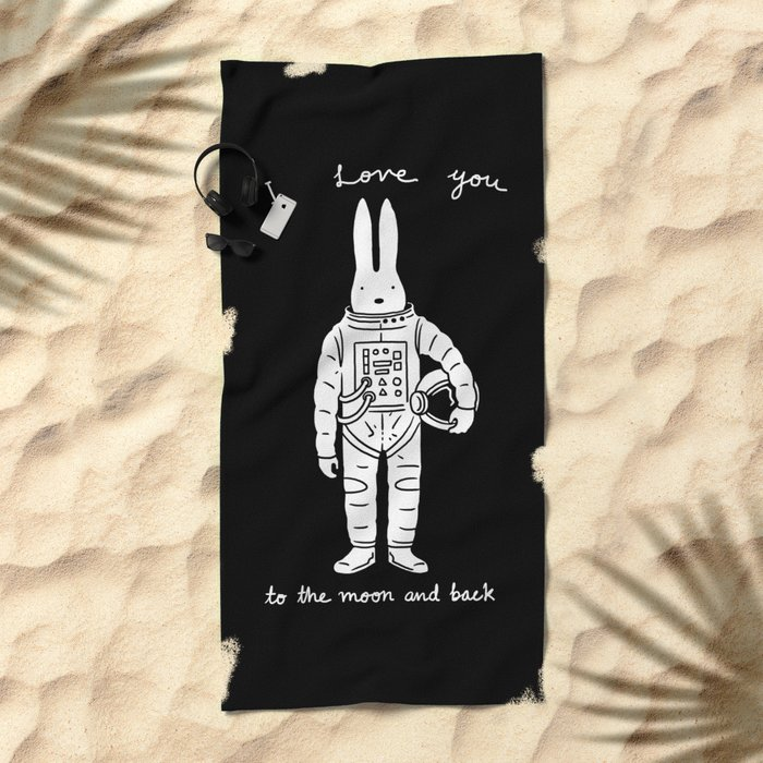 To the Moon and Back Beach Towel