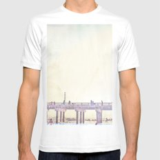 California Dreamin' in NY Mens Fitted Tee MEDIUM White