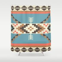 aztec Shower Curtains featuring AZTEC by 6ense