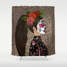 Rosa Maria on the Day of the Dead Shower Curtain