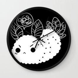 Angry Sea Slug Bunny Wall Clock