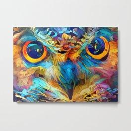 colorful Owl Eyes Metal Print