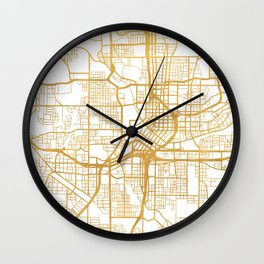 ATLANTA GEORGIA CITY STREET MAP ART Wall Clock