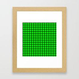 Small Neon Green Weave Framed Art Print