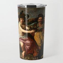 """Diego Velázquez """"The Triumph of Bacchus (El Triunfo de Baco o Los Borrachos)"""" Travel Mug"""