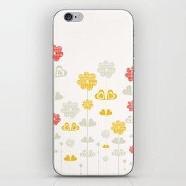 I heart flowers iPhone Skin
