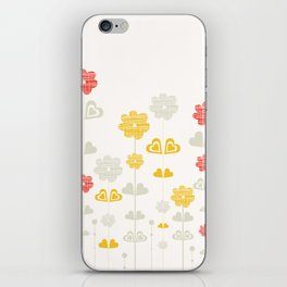 I heart flowers iPhone Skin