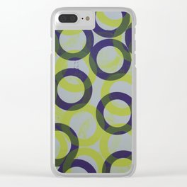 Circles 4 Clear iPhone Case