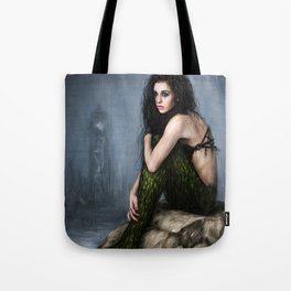 Mermaid and the Lighthouse Tote Bag