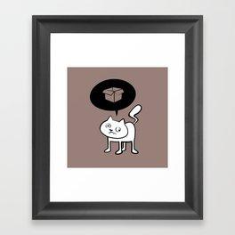 minima - derpicat | box Framed Art Print