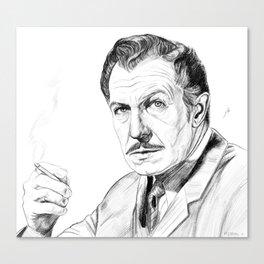 Vincent Price Sketch Canvas Print