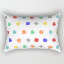 Watercolor dots Rectangular Pillow