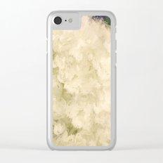 White Hydrangeas Clear iPhone Case