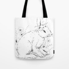 Little snowshoe hare Tote Bag