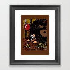 La cage du gorille Framed Art Print