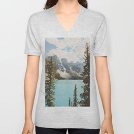Moraine Lake II Banff National Park Unisex V-Neck